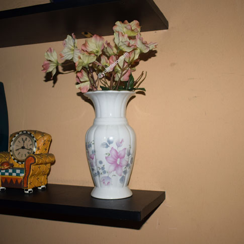 White Ceramic Decorative Vase for Shelves Display in Port Harcourt Nigeria