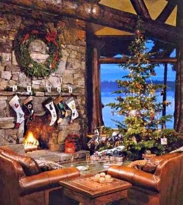 C mo decorar la sala para navidad colores en casa for Decoracion navidena rustica