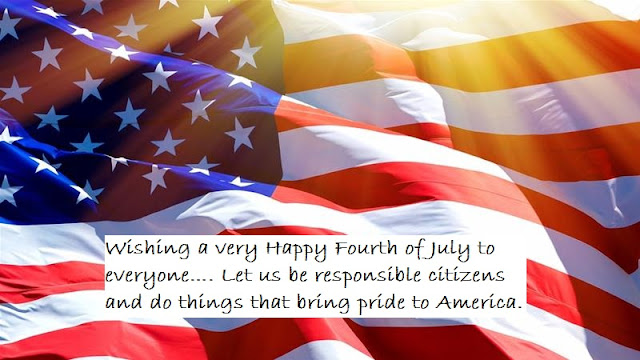 Fourth of July Message with Image for Facebook