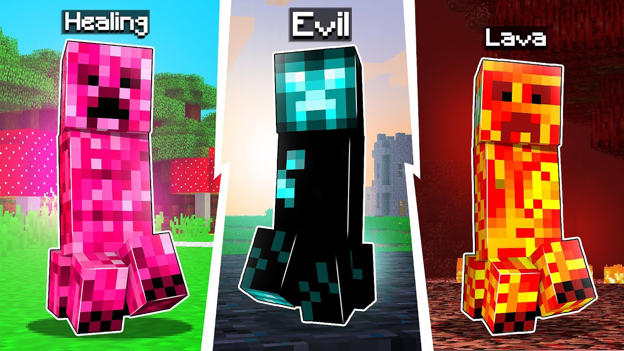 Minecraft Crazy Creepers Mod For 1.17.1 Version (New Creepers)