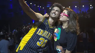sushant singh rajput and farah khan during 'dil bechara' title track shoot