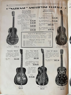 National Amplifing guitars