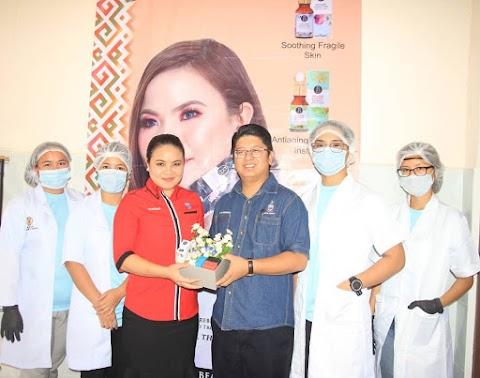 Lawatan YB Datuk Ewon Benedick Ke Makmal Kosmetik Norcy Beautylab Sdn Bhd