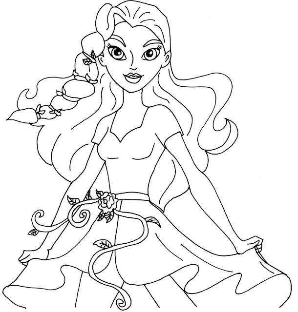 free printable super hero high coloring pages poison ivy