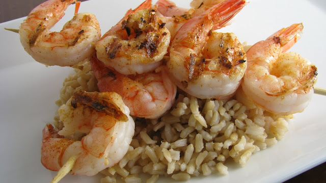 Grilled Shrimp With Garlic Rice - 2