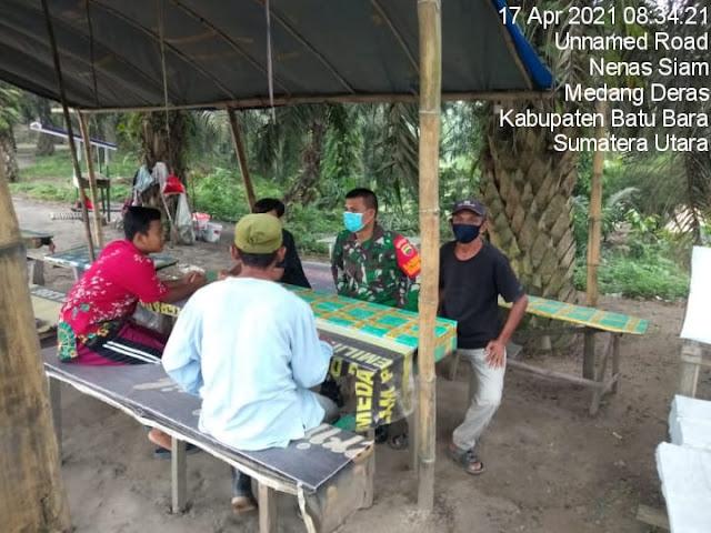 Jalin Silaturahmi Dengan Cara Komsos, Personel Jajaran Kodim 0208/Asahan Diwilayah Binaan
