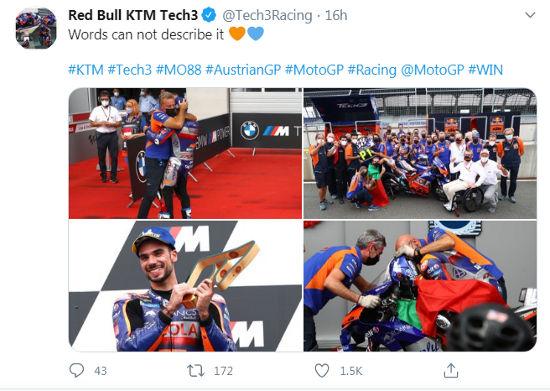Mengenal Miguel Oliveira, Dokter Gigi Ganteng Sang Juara Motogp Austria