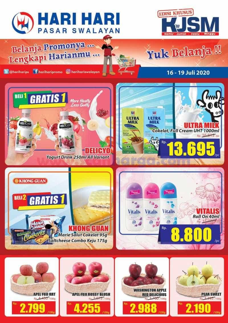 Katalog Promo KJSM Hari Hari Swalayan Weekend 16 - 19 Juli 2020 1