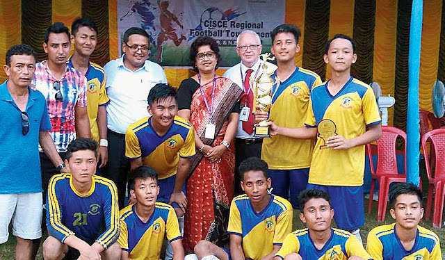 football team of St Augustine's School after winning the ICSE tournament
