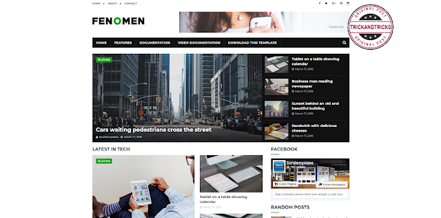 Fenomen Premium Blogger Template