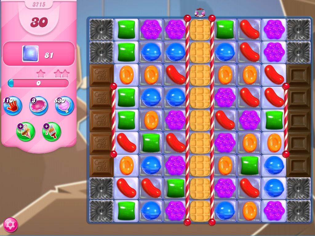 Candy Crush Saga level 3715