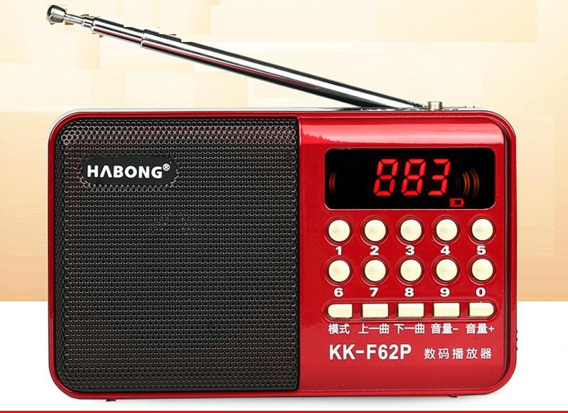 Máy nghe nhạc, mini MP3 FM radio kk-62