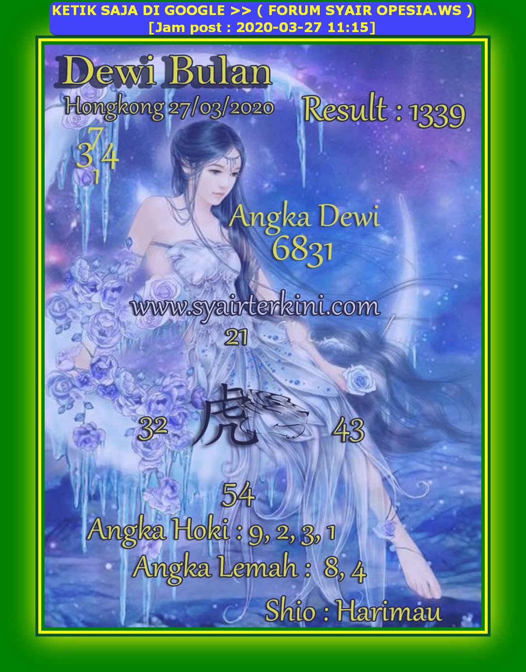 Kode syair Hongkong Jumat 27 Maret 2020 204