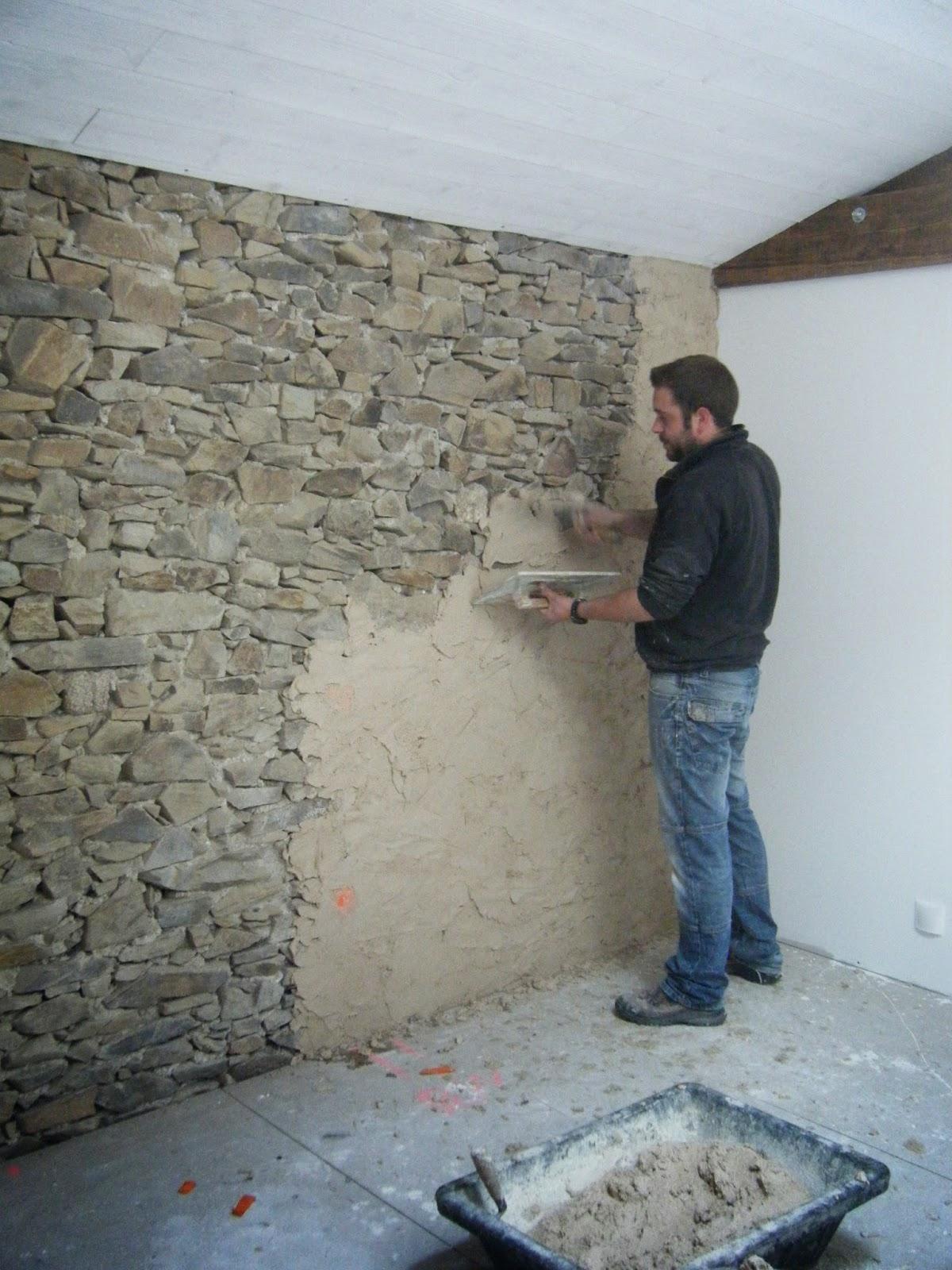 Mur Pierre Apparente Intérieur la grange de la boisselière: enduit sur un mur intérieur en