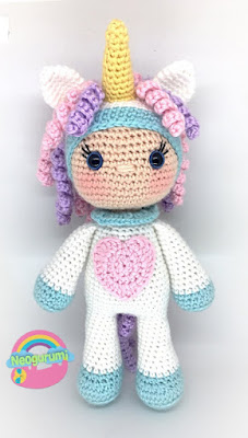 crochet unicorn doll