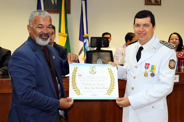Câmara Municipal concede título de cidadão goianense ao Capitão Menezes