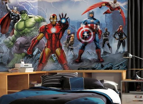 Marvel Wall Mural Avengers