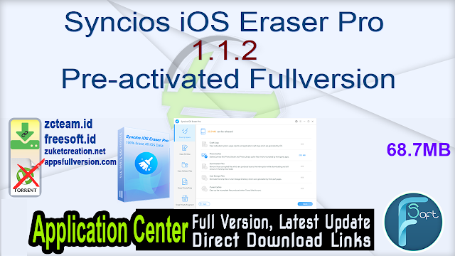 Syncios iOS Eraser Pro 1.1.2 Pre-activated Fullversion