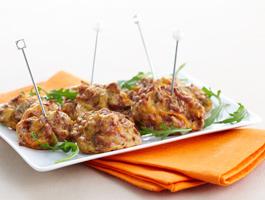 Croquettes de boeuf aux courgettes et champignons