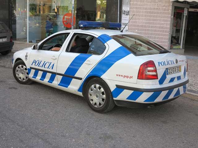 Police car on the Algarve