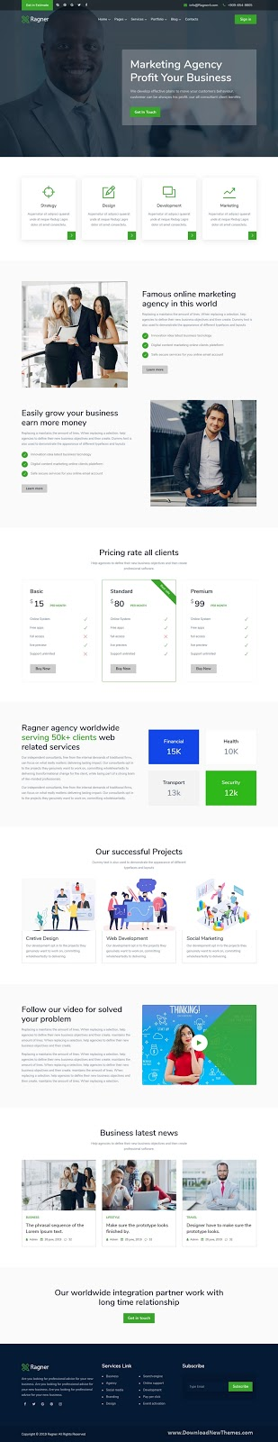 Agency & Startup Website Template