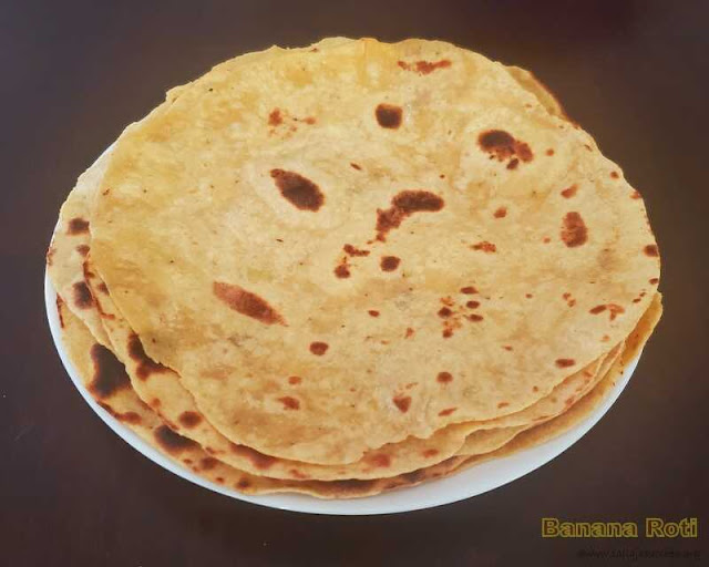 images of Banana Roti / Banana Chapathi / Indian Bread Recipe - Leftover Over Ripen Banana Recipe