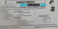 Lowongan Pekerjaan di UD Lampindo Inti Persada Malang Nopember 2019