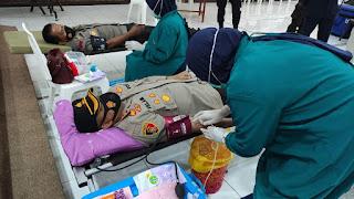 Polres Wajo Gelar Donor Darah Peringati Hari Bhayangkara Ke-75