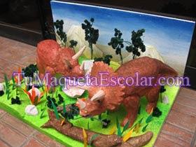 triceratops en su medio ambiente