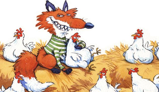 El zorro y las gallinas