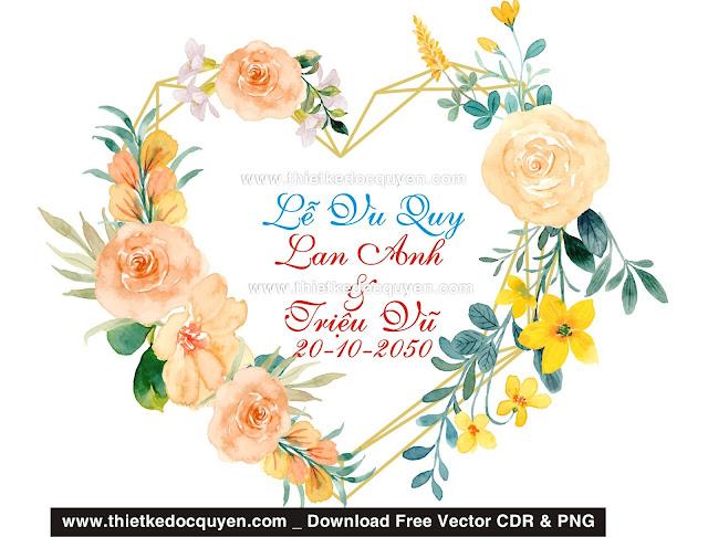 Download bảng tên đám cưới miễn phí