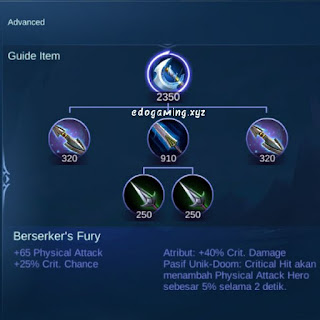 penjelasan lengkap item mobile legends item bersekers fury