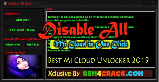 Disable All Mi Cloud In One Click - Best Mi Account Unlocker 2019