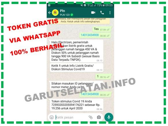 Cara dapatkan token listrik gratis via whatsapp