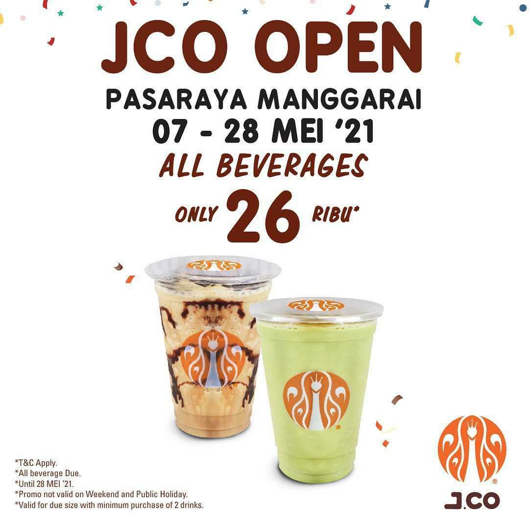JCO Pasaraya Manggarai Opening Promo All Beverages only 26K