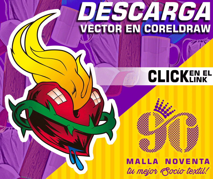 Descarga vectores Gratis Corazón Tatoo en CorelDraw