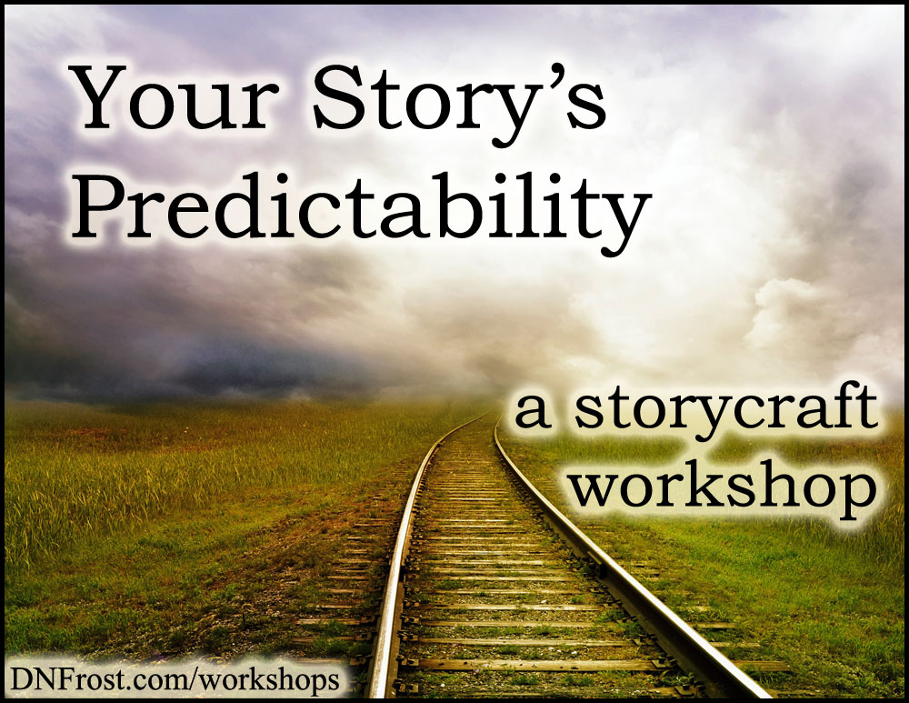 Your Story's Predictability: misdirection and foreshadowing http://www.dnfrost.com/2016/10/your-storys-predictability-storycraft.html A storycraft workshop by D.N.Frost @DNFrost13 Part of a series.