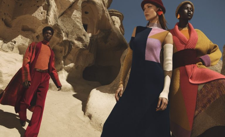 Missoni Fall/Winter 2019 Campaign featuring Bella Hadid and Adut Akech