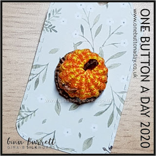 Day 305 : Pumpkin II - One Button a Day 2020 by Gina Barrett
