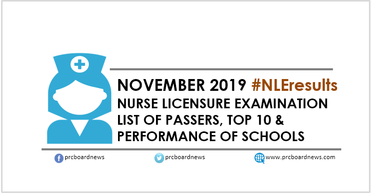 NLE RESULT: November 2019 nursing board exam list of passers