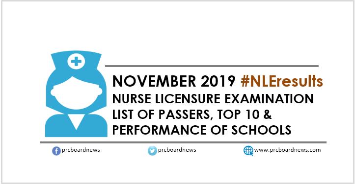 NLE RESULT: November 2019 nursing board exam list of passers