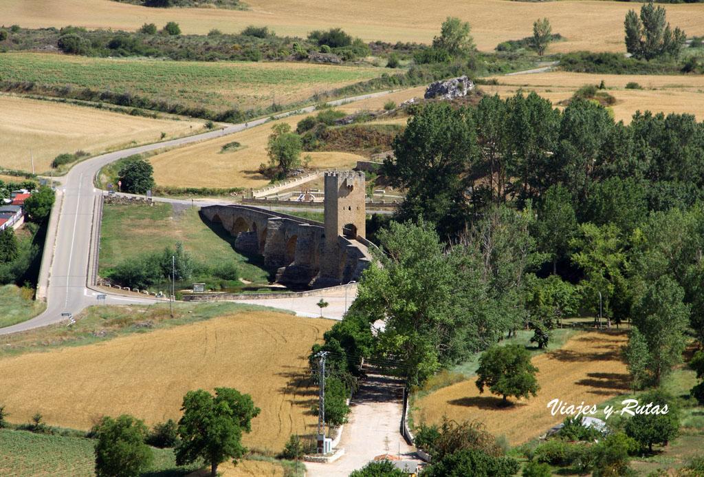 Vista puente desde el castillo de Frías