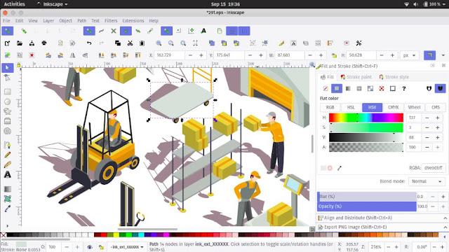 Inkscape Alteratif CorelDraw di Linux