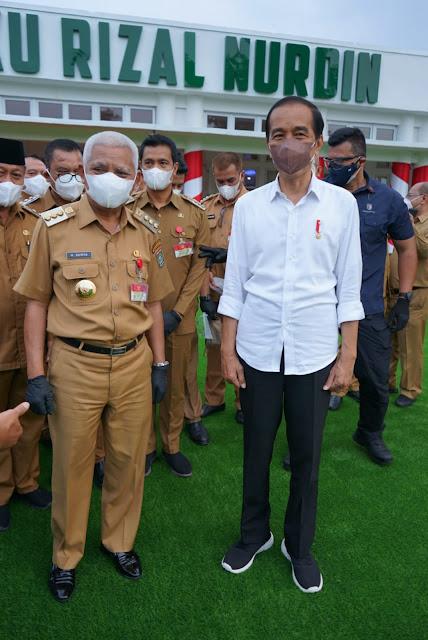 Bupati Asahan Menghadiri Kunjungan Kerja Presiden Jokowi di Rumah Dinas Gubernur Sumut