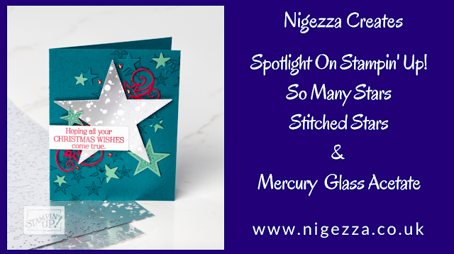 Nigezza Creates with Stampin' Up!  Stitched Star Mercury Glass Project
