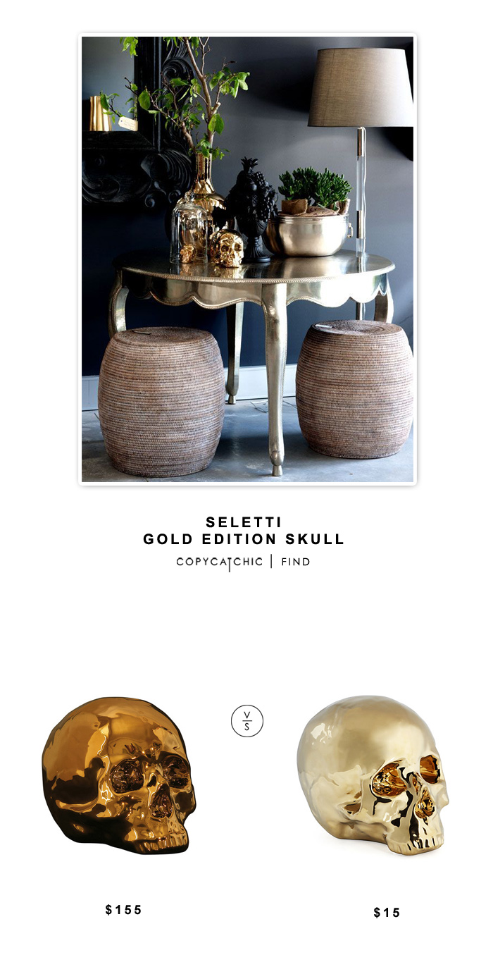 Seletti Gold Edition Skull $115 vs Z Gallerie Morton Skull $15