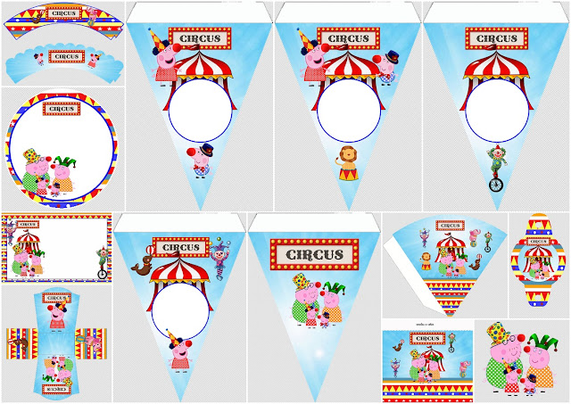 Peppa Pig at the Circus: Free Printable Party Kit.