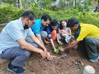 विश्व पर्यावरण दिवस पर सहयोग संस्था सदस्यों ने किया श्रमदान