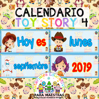 Calendario Móvil de Toy Story 4