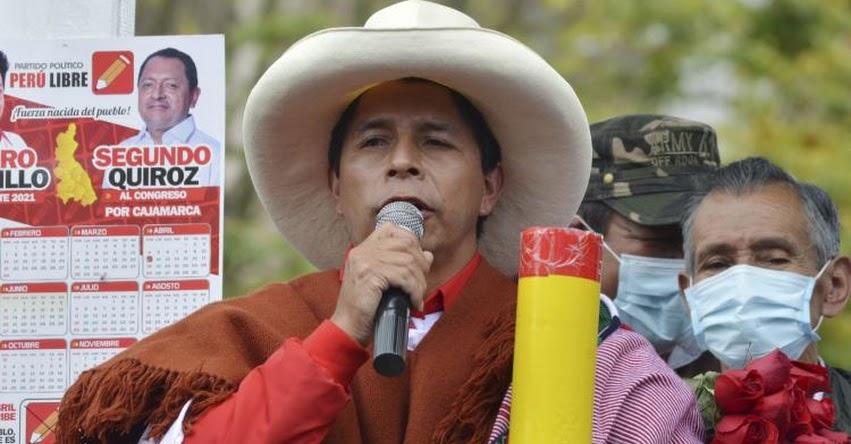 Educación es la principal herramienta para salir del subdesarrollo, afirma el candidato presidencial por Perú Libre, Pedro Castillo